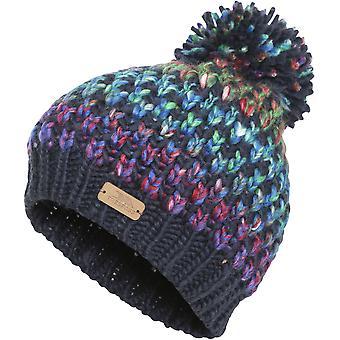 Trespass ragazze Kresteva lavorato a maglia acrilico Pom Pom caldo inverno Beanie Hat