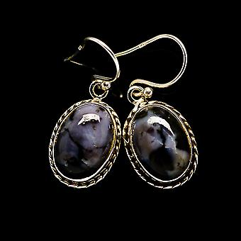 "Gabbro Earrings 1 1/4"" (925 Sterling Silver)  - Handmade Boho Vintage Jewelry EARR394423"