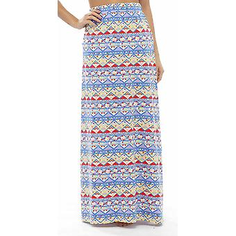 Ladies Tom Franks Pool Beach Holiday Aztec Print Polycotton Fashion Maxi Skirt