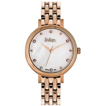 Shows Lee Cooper-LC06475-420 - steel e Dor pink dial white woman