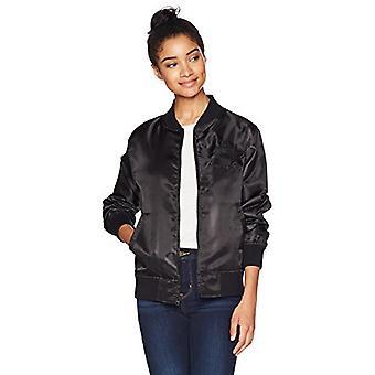 Starter Women's Lightweight Bomber Jacket,  Exclusive, Black, Small