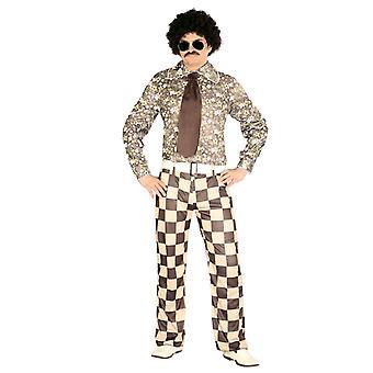 Mens Brown 1970s Brady Retro Fancy Dress Costume