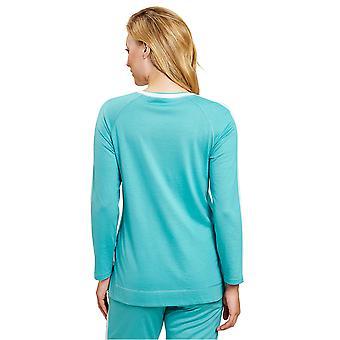 Rösch 1203208-15640 Femei&s Pure Spearmint Blue Loungewear Top