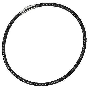 Lederen band 6 mm-gevlochten-leder