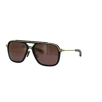 Dita Lancier DLS400 01 Matte Black-White Gold/Polarised Brown Sunglasses