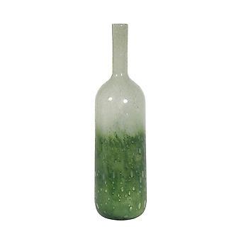 Florero de luz y vida 11.5x44cm Vidrio de polone verde-claro verde