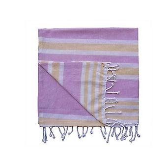 Royal Stripe Beach Throw Yellow And Light Pink
