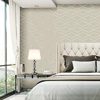 Luciano Geo Texture Wallpaper Natural Belgravia 3853
