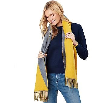 Joules Womens Langford Long Length Stylish Reversible Scarf