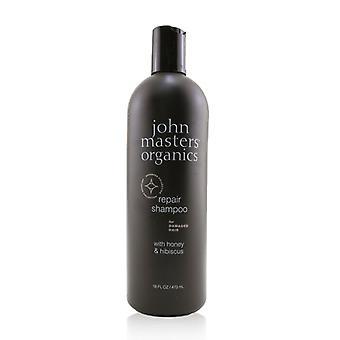 John Masters Organics Repair Shampoo For Damaged Hair With Honey & Hibiscus - 473ml/16oz