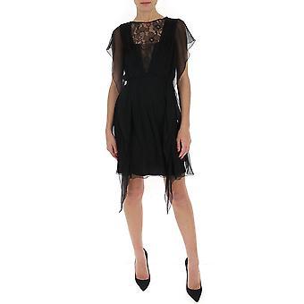 Alberta Ferretti 04371615a0555 Damen's schwarzes Baumwollkleid