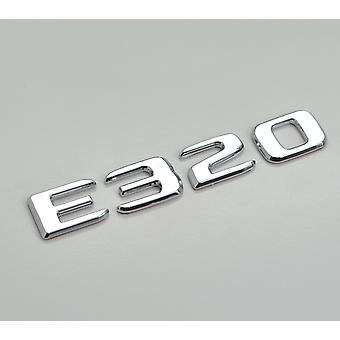 Silver Chrome E320 Flat Mercedes Benz Car Model Numbers Letters Badge Emblem For E Class W210 W211 W212 C207/A207 W213 AMG
