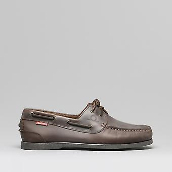 Chatham Galley Ii Mens Leather Boat Shoes Dark Coffee