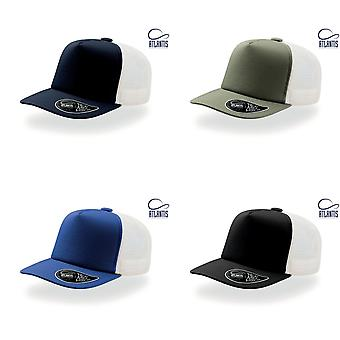 Atlantis Record Mid Visor 5 Panel Trucker Cap (Pack of 2)