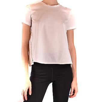 Moncler Ezbc014097 Women's White Cotton T-shirt