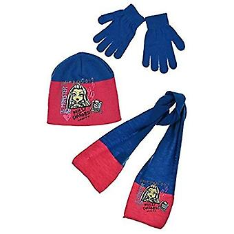 Monster high girls hat scarf and gloves set
