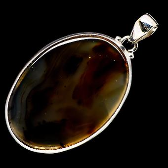 مونتانا Agate قلادة 2 1/4 & (925 الجنيه الاسترليني الفضة) - اليدوية بوهو خمر مجوهرات PD723391