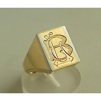 Atelier Christian yellow gold seal ring