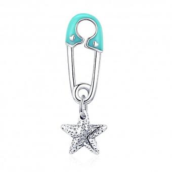 Sterling Silver Pendant Charm Safety Pin - 5927