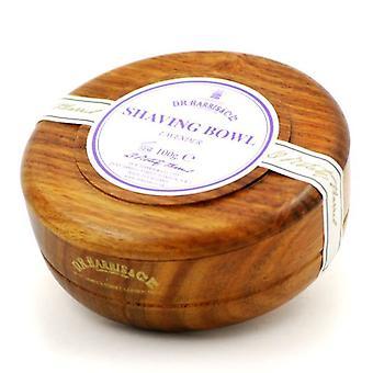 D R Harris Wooden Shaving Bowl + Soap 100g-Lavender-Mahogany effect