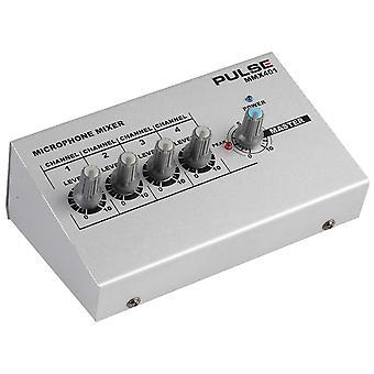 Pulse Mmx401 Mezclador de micrófono de 4 canales