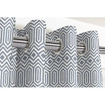 McAlister têxteis Colorado geométrica azul marinho cortinas