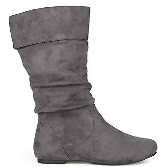Brinley Co Womens Chely-3 Almond Toe Knee High Fashion Boots