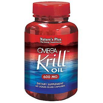 Naturens pluss Omega krill olje 600mg Liquicaps 60 (3972)