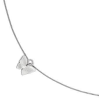 925 Sterling Silber poliert und strukturierte Schmetterling Engel Flügel Fußkettchen mit 1 Zoll Ext 9 Zoll Schmuck Geschenke für Frauen
