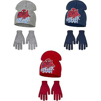 Marvel Ultimate Spider-Man Childrens Boys Web Slinging Hat And Gloves Set