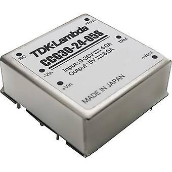 TDK-Lambda CCG-30-24-12D DC/DC -muunnin (tulostus) 24 V 1,25 A 30 W Ei. lähtöjen määrä: 1 x