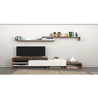 Mobil tv-dør Phoenix Color White, Træ i melaminic chip 150x27x45 cm, 150x14x16 cm