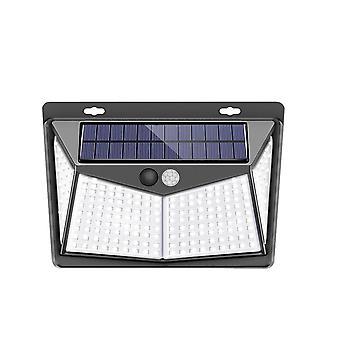 Luz da parede do sensor de movimento pir de energia solar à prova d'água para jardim ao ar livre