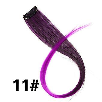Clip In One Piece For Ombre Hair Extensions  Pure Color  Straight Long Synthetic Hair