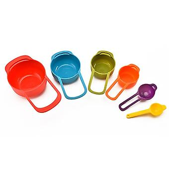 Measuring Spoon Rainbow Color Stack-able - Various Combination Measuring Cup  Used As Baking Measuring  Tool