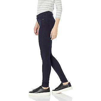 Daily Ritual Women's Mid-Rise Skinny Jean, Indigo Blue Overdyed, 28 (6) Long