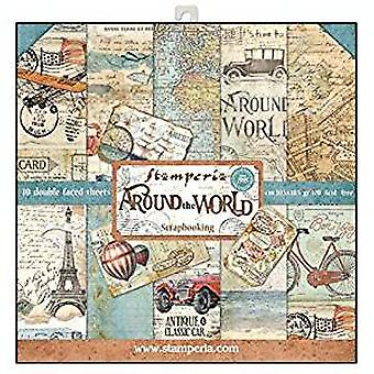 Stamperia Around the World 12x12 Inch Paper Pack