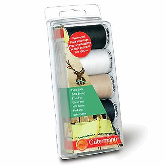 Gutermann Extra Strong 100% Polyester Thread 100m Hand and Machine 5 Colour Set