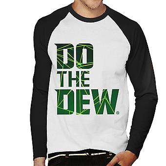 Mountain Dew Do The Dew Laser Men's Baseball Long Sleeved T-Shirt