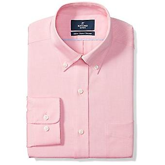 BUTTONED DOWN Men&s Classic Fit Button-Collar Solid Non-Iron Dress Shirt (Poc...
