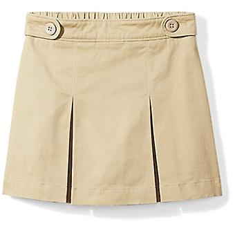 Essentials Big Girls' Uniform Skort, Khaki, M (8)