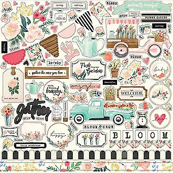 Carta Bella Flower Market 12x12 Inch Element Sticker