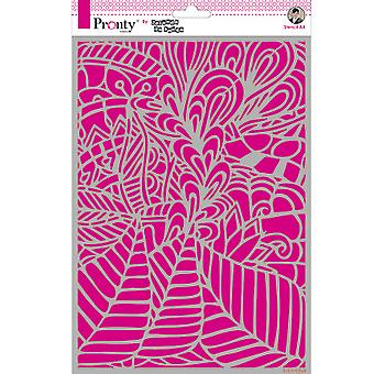 Pronty Handwerk Hintergrund Leafy A4 Schablone