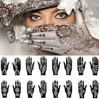 Genanvendelige Tattoo Midlertidig Stencil Skabelon Sticker Kvinder