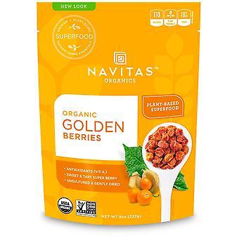 Navitas Organics, Organic Golden Berries, 8 oz (227 g)