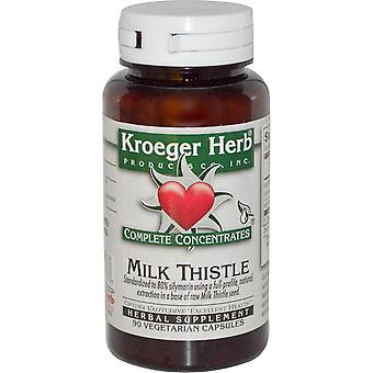 Kroeger Herb Co, Complete Concentrates, Milk Thistle, 90 Vegetarian Capsule