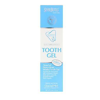 American Biotech Labs, Biotics de plata, gel de dientes, menta glacial, 4 oz (114 g)
