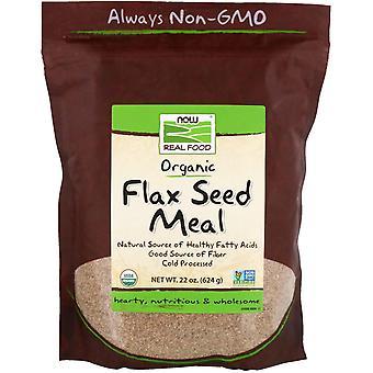 Jetzt Lebensmittel, echte Lebensmittel, Bio-Flachs-Samen-Mahlzeit, 1,4 lbs (624 g)