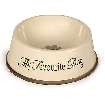 Designed By Lotte Ceramic Bowl My Favourite Dog Grey - 15cm