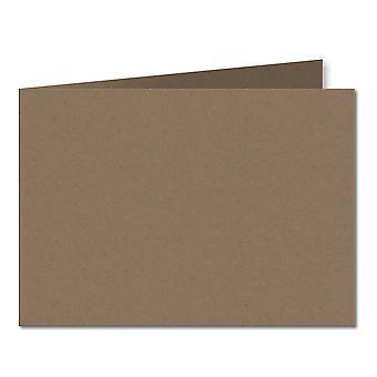 Fleck Manilla. 148mm x 420mm. A5 (Short Edge). 280gsm Folded Card Blank.